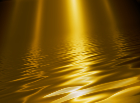 Liquid metal texture, gold metallic background.
