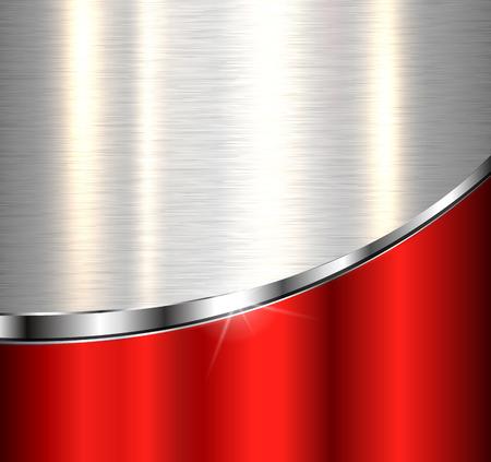cromo: Fondo metálico, elegante diseño vectorial.