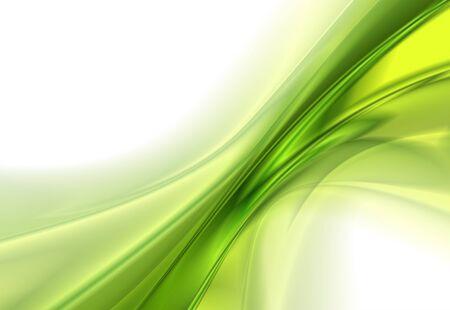Abstrait arrière-plan, des lignes ondulées vert, illustration vectorielle Vecteurs
