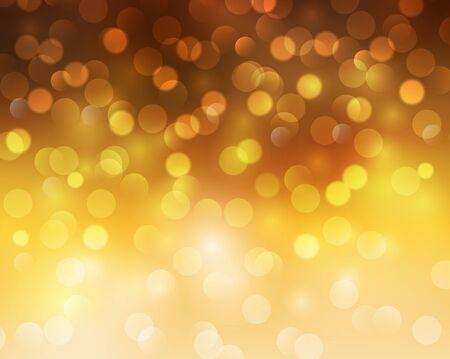 blinking: Christmas abstract background orange blinking bokeh.