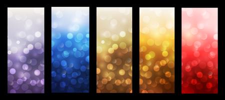 blinking: Abstract backgrounds blinking bokeh vector design Illustration