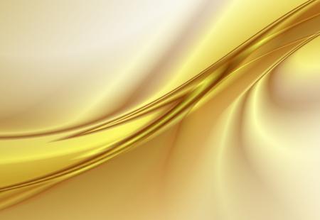 Abstracte achtergrond, gouden golvende lijnen, vector illustratie Stock Illustratie