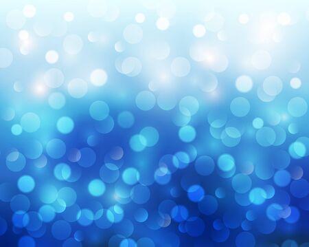 blinking: Christmas abstract background blue blinking bokeh.