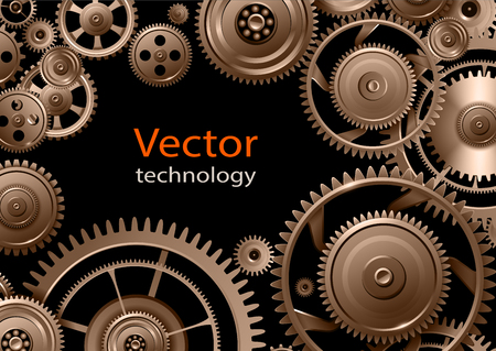 precision: Gears background, teamwork and precision concept vector design