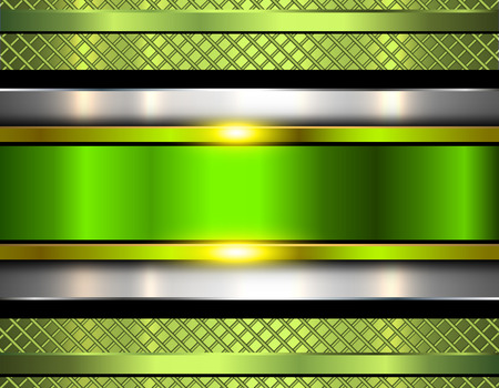 Background metallic, shiny green metal texture, vector illustration. Illustration