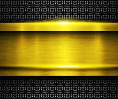 Background metallic gold, vector metal texture.