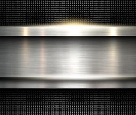 Background silver metallic, vector metal texture. Illustration