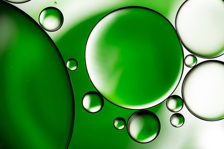 molted: Water bubbles background, green abstract circles
