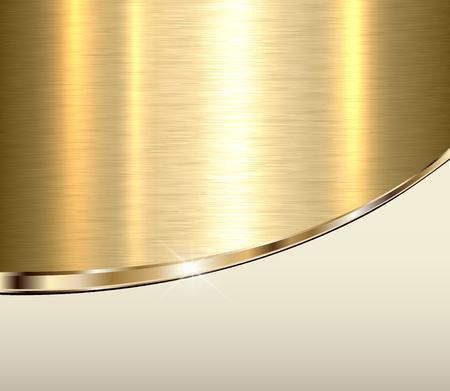 Gold metal background, elegant golden vector metallic texture