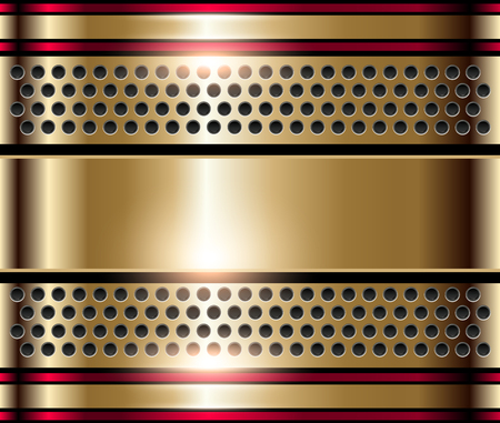 shiny metal background: Gold metal background, shiny metallic golden plate.