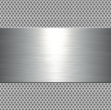 polished: Metallic background, metal plate texture - vector polished metal