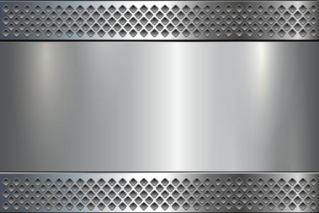 titanium: Metallic background, metal plate texture - vector polished metal