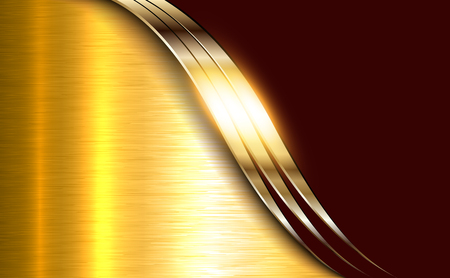Business elegant background, golden shiny metallic. Illustration