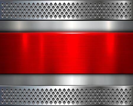 Metallic Hintergrund, glänzendes Metall elegant Textur, Vektor-Illustration.