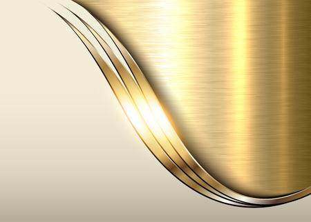 Gouden metaalachtergrond, glanzende metaal elegante bedrijfsachtergrond