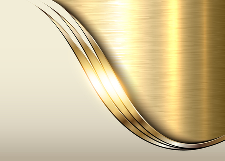 Gold metal background, shiny metallic elegant business background