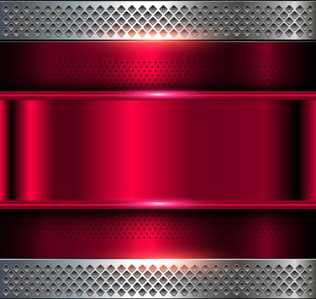metallic texture: Metallic background, purple metal perforated texture, vector polished metal