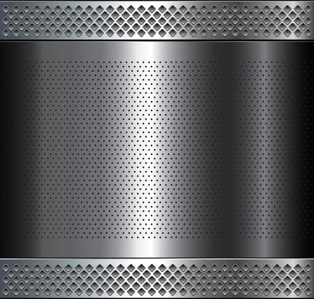perforated: Metallic background, metal perforated texture, vector polished metal