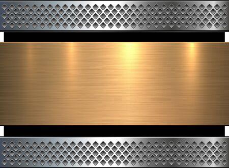 gold metal: Background gold metal texture, vector illustration.