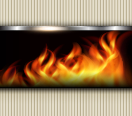 abstract fire: Abstract background with vector fire flames.