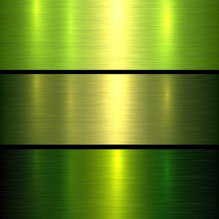 Metall grün Textur Hintergrund, gebürstet metallischen Textur Platte. Vektorgrafik