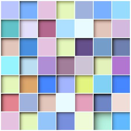 lineas decorativas: Resumen de antecedentes mosaico cuadrado, ilustración vectorial.