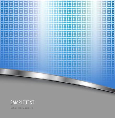 Business background blue and grey with dotted pattern, vector illustration. Ilustração Vetorial