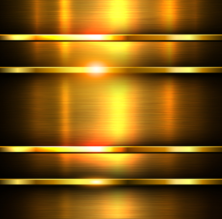 Metal background, vector steel polished plate texture.