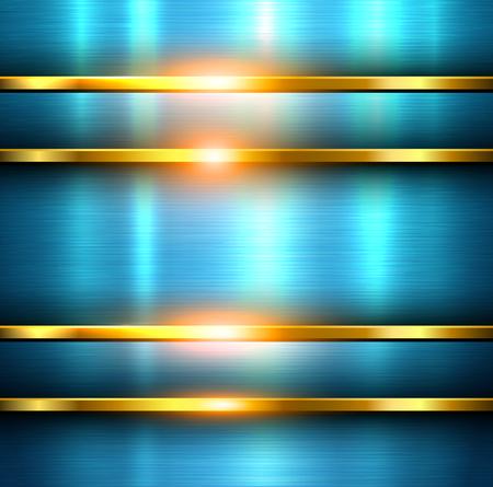 polished: Metal background blue, vector steel polished plate texture. Illustration
