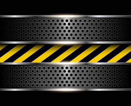 steel construction: Background with warning stripes, vector illustration.