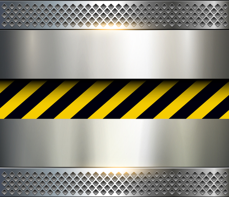 ironworks: Background with warning stripes, vector illustration.