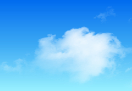 clouds: Clouds background, blue sky with white vector clouds