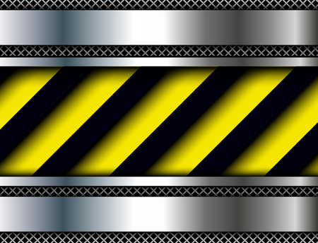 warn: Background with warning stripes, vector illustration.