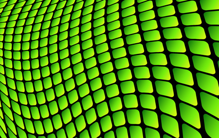 Abstract background green square mosaic, 3D vector illustration.