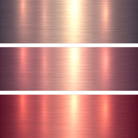 shiny: Metal textures pink and red brushed metallic background, vector illustration. Illustration