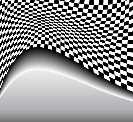 Abstract background 3D black and white, vector illustration. Illustration