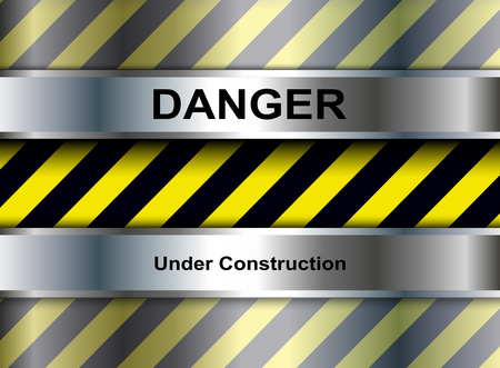 steel industry: Background with warning stripes, vector illustration.
