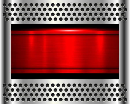 shiny metal background: metal background, shiny red metallic chrome plate.