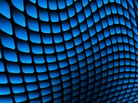 Abstract background blue square mosaic, 3D vector illustration.
