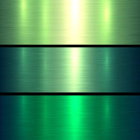 Metal groene textuur achtergrond, geborsteld metalen textuur plaat.