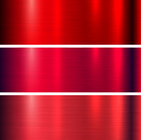 Metal red texture background, brushed metallic texture plate.