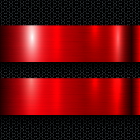 tack: Metal background red, polished metallic red texture, vector illustration