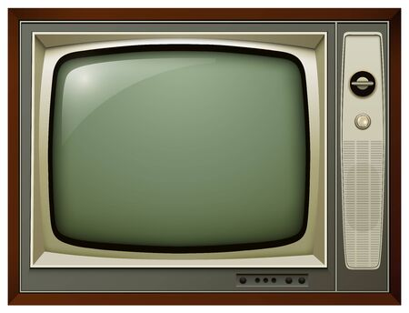 ntsc: TV isolated, 3D vintage vector illustration.