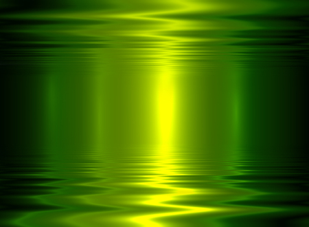 glittery: Liquid metal texture, green metallic background.