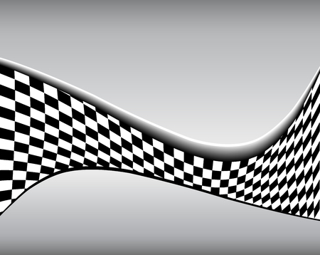 building: Abstract background 3D black and white checkered pattern, vector illustration.