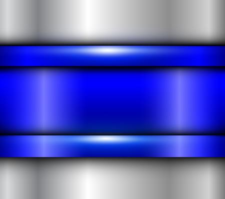 배경 블루 metalic 질감, 벡터 세련된 금속