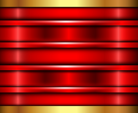 polished: Background red metalic gold texture, vector polished metal Illustration