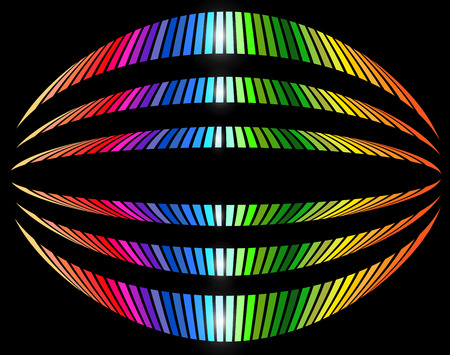 oval: Background with rainbow striped pattern, abstract background vector design.