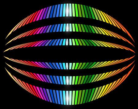 abstrakcja: Tło z rainbow paski wzór, abstrakcyjne projektu tła wektora.
