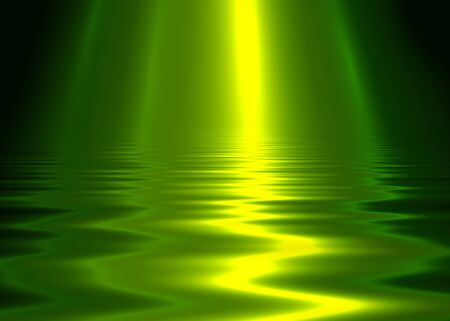Liquid metal texture, green metallic background.
